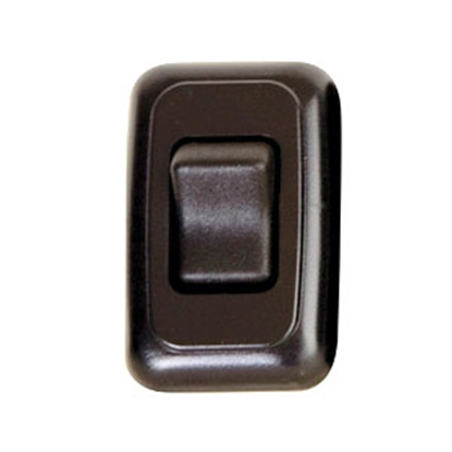 Picture of Diamond Group  Black 125V/ 16A SPST Single Rocker Switch For On/ Off Appliances A-3115 69-8815