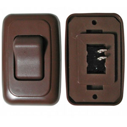 Picture of Diamond Group  Brown 125V/ 16A SPST Single Rocker Switch For On/ Off Appliances A-3118 69-8816