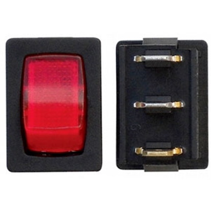 Picture of Diamond Group  3-Bag Red/ Black 125V/ 16A SPST Lighted Rocker Switches For Water Pumps A6-23 69-8823
