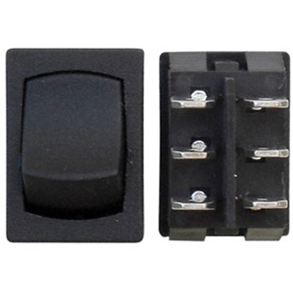 Picture of Diamond Group  3-Bag Black 125V/ 16A DPDT Mini Rocker Switches w/ Bezel For E2-41 69-8841