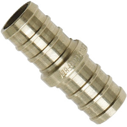"Picture of Flair-It BestPEX 3/8"" PEX Brass Fresh Water Straight Fitting 41131 69-9005"