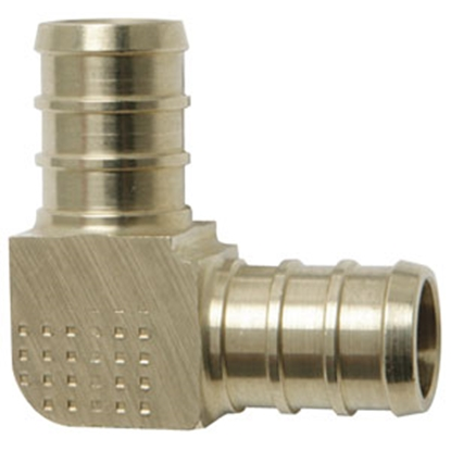 "Picture of Flair-It BestPEX 3/8"" PEX Brass Fresh Water 90 Deg Elbow 41138 69-9007"