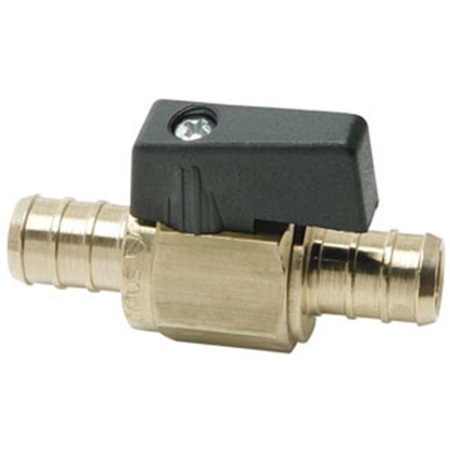 "Picture of Flair-It BestPEX 3/8"" PEX Brass Straight Ball Valve 41200 69-9018"
