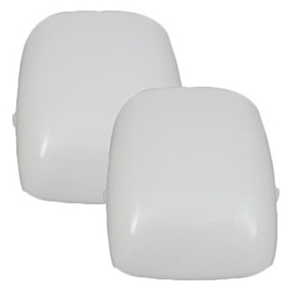 Picture of Gustafson  White Rectangular Euro-Style Replacement Dome Light Lens AM4024 69-9098