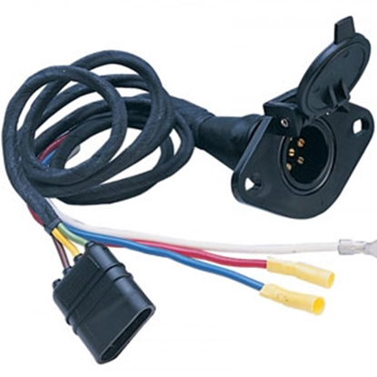 Picture of Hopkins Plug In Simple (TM) 4-Flat To 6-Round Trailer Wiring Connector Adapter 47155 69-9128