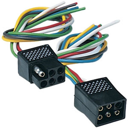 Picture of Hopkins  Litemate 6 Pole Square Trailer Wiring Connector Kit 47995 69-9140