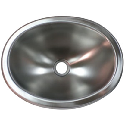 "Picture of Lasalle Bristol  10"" X 13"" Oval Stainless Steel Lavatory Sink 13M1186 69-9225"