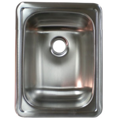 "Picture of Lasalle Bristol  17"" X 13"" Single Bowl Stainless Steel Sink 13RSM1713LL 69-9242"
