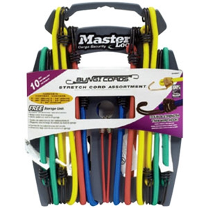 Picture of Master Lock Twin Wire (TM) 10-Piece Assorted Bungee Cord 3043DATSC 69-9335