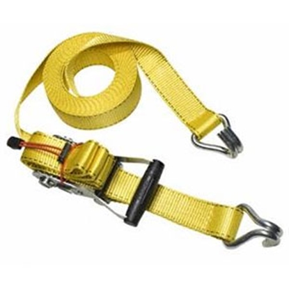 "Picture of Master Lock Strap Trap (TM) 2"" x 27' Ratchet Tie Down Strap w/J-Hooks 3059DATSC 69-9338"