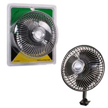 "Picture of Madison Accessories  Black 6""x9"" 12V 2-Speed Oscillating Ceiling/ Dash Mount Fan 21011 69-9346"