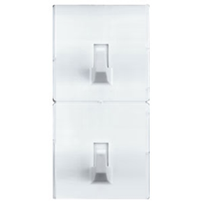 """Picture of Magic Mounts Magic Mounts (R) 2-Pack White 2"""" x 2"""" Self-Adhesive Utility Hooks 3706 69-9349"""