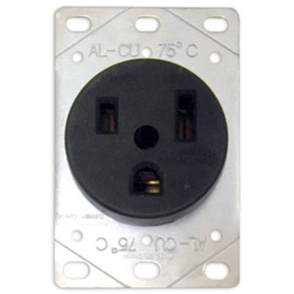 Picture of Parallax  Black 50A Outdoor/ Indoor Single NGFI Receptacle EAG1258SP 69-9484