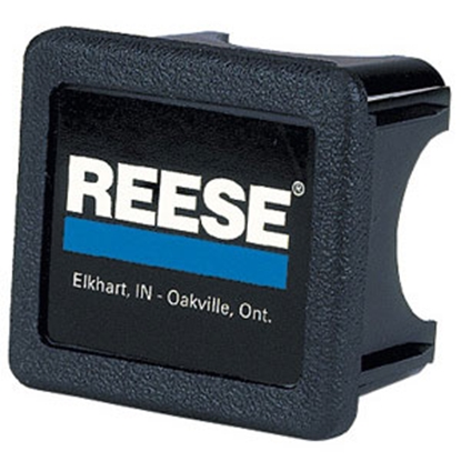 "Picture of Reese  2"" Black/Blue/White Reese Metal Hitch Cover 74547 69-9695"