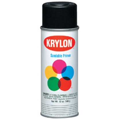 Picture of Krylon Krylon 12 Oz Spray Can Flat Black Paint K1602 69-9773
