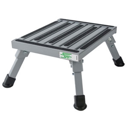 "Picture of Safety Step  7""H Silver Aluminum Folding Step Stool S-07C-S 69-9776"