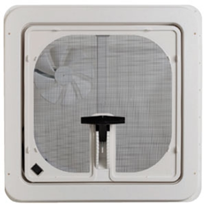 "Picture of Ventline  White 14.25""x14.25"" Polypropylene Frame Roof Vent w/Fan V3094-601-00 70-2893"