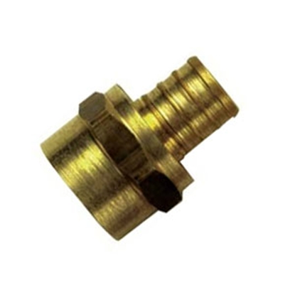 "Picture of BestPex Fittings BestPEX 3/4"" Hose Barb x 3/4"" FPT Brass Fresh Water Straight Fitting 41130 88-9111"