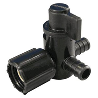 """Picture of Ecopoly Fittings EcoPoly 1/2"""" PEX x 1/2"""" FPT Swivel End Nut Plastic Shut Off Valve 28913 88-9313"""