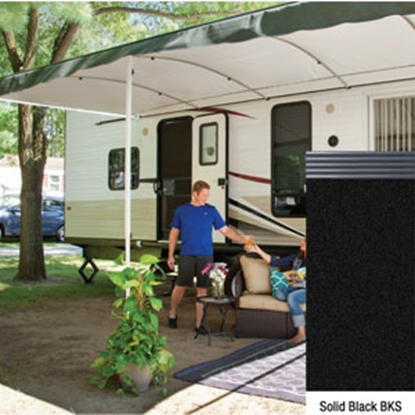 "Picture of Lippert Solera Destination 16' w/ 9' 8"" Ext Black Solid B Shield Solera Destination Patio Awning V000334847 90-2162"