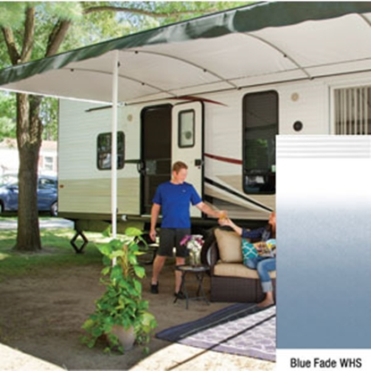 "Picture of Lippert Solera Destination 16' w/ 9' 8"" Ext Blue Fade W Shield Solera Destination Patio Awning V000334861 90-2165"