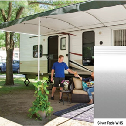 "Picture of Lippert Solera Destination 16' w/ 9' 8"" Ext Silver Fade W Shield Solera Destination Patio Awning V000334862 90-2166"