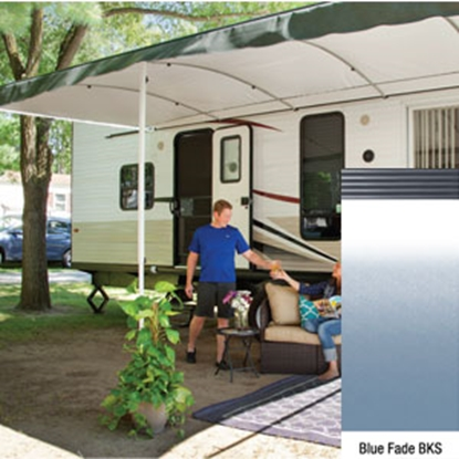 "Picture of Lippert Solera Destination 16' w/ 9' 8"" Ext Blue Fade B Shield Solera Destination Patio Awning V000334865 90-2168"