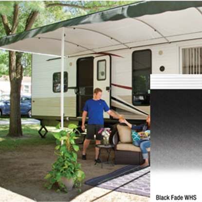 "Picture of Lippert Solera Destination 16' w/ 9' 8"" Ext Blue Fade W Shield Solera Destination Patio Awning V000334867 90-2169"