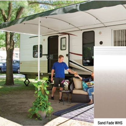"Picture of Lippert Solera Destination 16' w/ 9' 8"" Ext Sand Fade W Shield Solera Destination Patio Awning V000334870 90-2170"