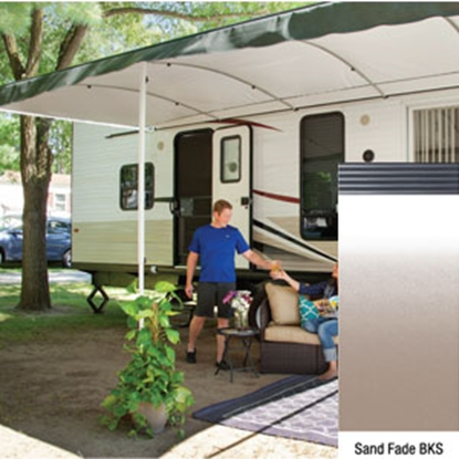 "Picture of Lippert Solera Destination 16' w/ 9' 8"" Ext Sand Fade B Shield Solera Destination Patio Awning V000334873 90-2171"