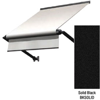 "Picture of Lippert Solera Solid Black 54"" w/ 18"" Ext Black WG & Castings Solera Window Awning V000335428 90-2648"