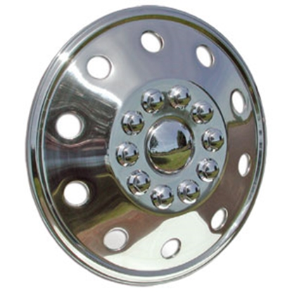 "Picture of Wheel Masters  Single 19-1/2"" 10-Lug Wheel Cover 7195B3 90-6633"