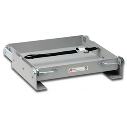"Picture of Kwikee  18-5/16""L x 24-9/16""W x 3-3/16""H Steel Battery Tray for 1-8 Batteries 366499 90-7793"