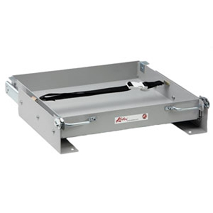 "Picture of Kwikee  15-1/8""L x 15-1/2""W x 3-3/8""H Steel Battery Tray for 1-8 Batteries 366333 92-0310"