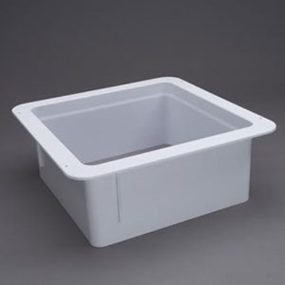 "Picture of Heng's  White 6"" Deep for 14""x14"" Opening Radius Roof Vent Garnish 90146 92-6663"