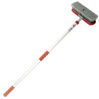 "Picture of Adjust-a-Brush  10"" Wide Soft 52""-92"" Telescopic Wash Handle/ Brush PROD264 93-5675"