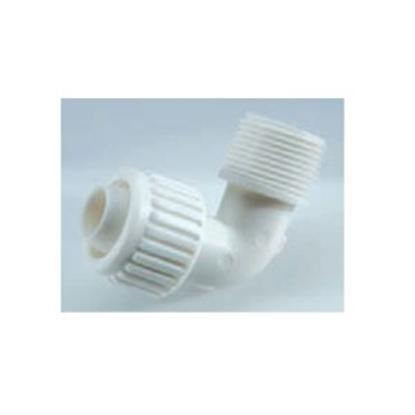 "Picture of Flair-It Flair-It (TM) 1/2"" PEX x 3/4"" MPT White Plastic Fresh Water 90 Deg Elbow 06812 93-9136"
