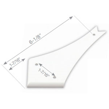 "Picture of JR Products  Polar White 4-1/2"" Curved Slide-out Cap 559-A-B 94-4724"