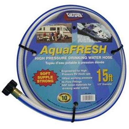 "Picture of Valterra Aqua Fresh White 1/2""x15' Fresh Water Hose w/Gripper W01-5180 94-4978"