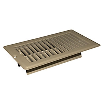 "Picture of AP Products  Brown 4""W x 12""L Floor Heating/ Cooling Register w/Damper 013-630 94-8032"