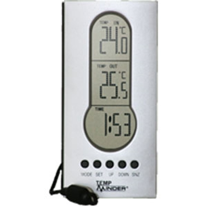 Picture of Minder TempMinder (R) Battery Operated  Indoor/outdoor Thermometer w/ Clock MRI-122AG 95-0002