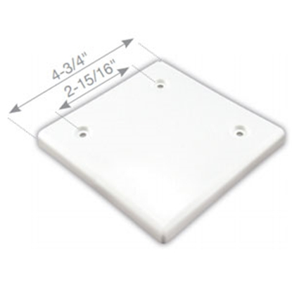 "Picture of JR Products  Polar White 4-1/2"" Square Slide-Out Extrusion Cover 547 95-2470"