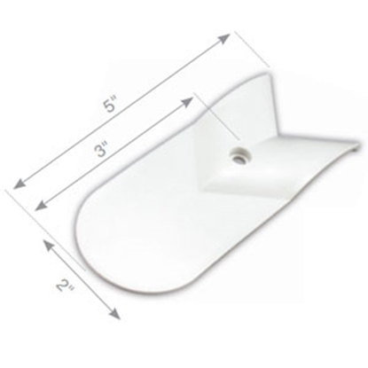 "Picture of JR Products  Polar White 3"" Radius Slide-out Cap 559-B 95-2471"