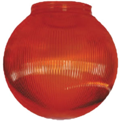 "Picture of Polymer Products  6"" Orange Prismatic Replacement Globe 3216-51630 95-5208"