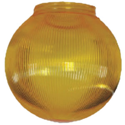 "Picture of Polymer Products  6"" Yellow Prismatic Replacement Globe 3214-51630 95-5209"