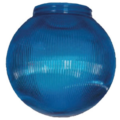 "Picture of Polymer Products  6"" Blue Prismatic Replacement Globe 3212-51630 95-5210"