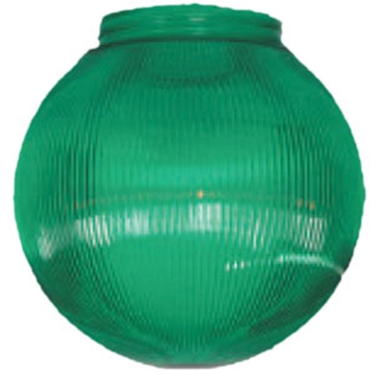 "Picture of Polymer Products  6"" Green Prismatic Replacement Globe 3262-51630 95-5212"
