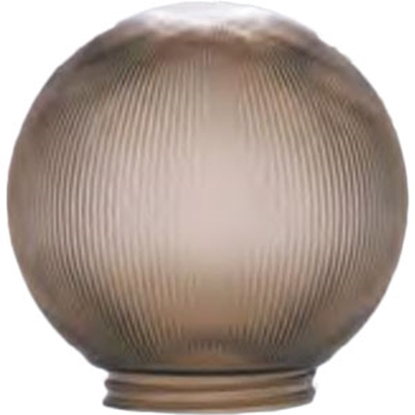 "Picture of Polymer Products  6"" Bronze Prismatic Replacement Globe 3203-51630 95-6122"