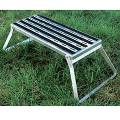 "Picture of Camco  7""H Aluminum Folding Step Stool 43675 95-7956"