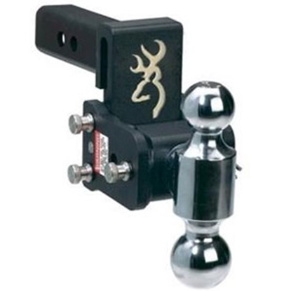 "Picture of B&W Hitches Tow & Stow Browning Model 8 Class IV 2"" 10K 5"" Drop x 5-1/2"" Lift Double Ball Mount TS10037BB 96-2281"